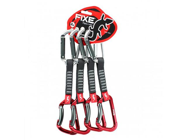 Fixe Montgrony Wide Quickdraw 24cm 4 Pack, Plateado/rojo